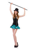 Dancing woman magician Stock Photography