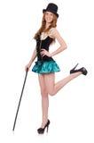 Dancing woman magician Stock Photos