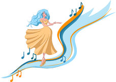 Dancing woman Royalty Free Stock Images