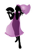 Dancing woman silhouette Royalty Free Stock Photo