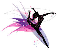 Dancing woman silhouette Stock Photo