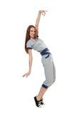 Dancing woman in  sportswea Stock Images