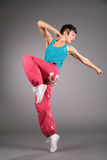 Dancing woman in sportswear Stock Photography