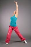 Dancing woman in sportswear Stock Photography