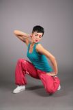 Dancing woman in sportswear Royalty Free Stock Photography