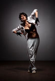 Dancing woman in street style Stock Images