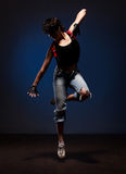 Dancing woman in street style Stock Image