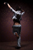 Dancing woman in street style Royalty Free Stock Photography
