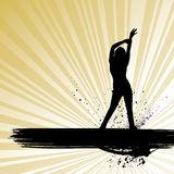 Dancing woman vector Royalty Free Stock Photos