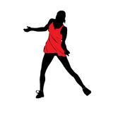 The dancing woman.Vector illustration Stock Image