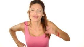 Dancing woman stock video footage