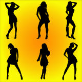 Dancing women #1 Royalty Free Stock Photography