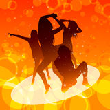 Dancing women Stock Photos