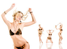Dancing women Stock Photos