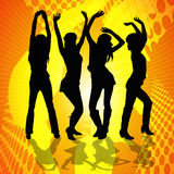 Dancing Women. Four women dancing at a party Royalty Free Stock Photography