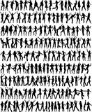 Only the dancing women and girls stock illustration