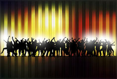Dancing women and men with background Royalty Free Stock Photos
