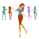 Dancing women Stock Photography
