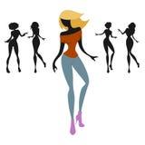 Dancing women Royalty Free Stock Image