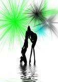 Dancing Women Silhouette Stock Photo