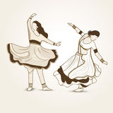 Dancing women. Royalty Free Stock Photos