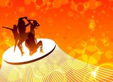 Dancing women vector Royalty Free Stock Image
