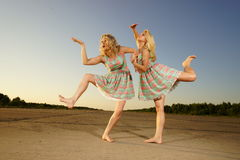 Dancing women Royalty Free Stock Image