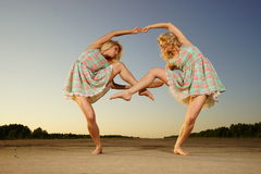 Dancing women Royalty Free Stock Photos