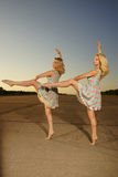 Dancing women Stock Images