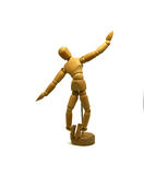 Dancing wooden mannequin, puppet,  Royalty Free Stock Image