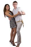 The dancing young beauty couple Stock Image