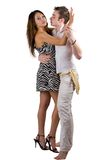 The dancing young beauty couple Royalty Free Stock Photo