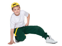 Dancing young boy Stock Image
