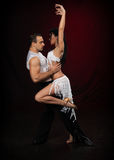 Dancing young couple. Royalty Free Stock Images