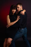 Dancing young couple Stock Photography