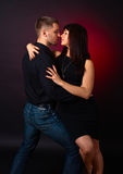 Dancing young couple Royalty Free Stock Image