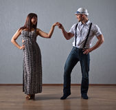 Dancing young couple Royalty Free Stock Photo