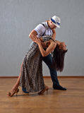 Dancing young couple Stock Photos