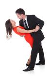 Dancing young couple Royalty Free Stock Photography
