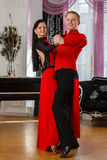Dancing young couple. Royalty Free Stock Photo