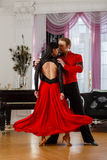 Dancing young couple. Royalty Free Stock Photography