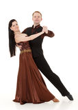 Dancing young couple. Royalty Free Stock Image