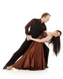 Dancing young couple. Royalty Free Stock Photos