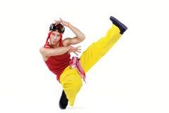 Dancing young man Stock Image