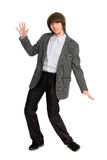 Dancing young man Stock Image