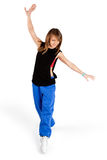 Dancing young woman Stock Images