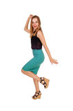 Dancing young woman. Royalty Free Stock Photo
