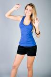Dancing young woman portrait Stock Photos