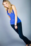 Dancing young woman portrait Stock Photography