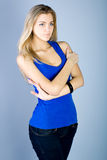 Dancing young woman portrait Royalty Free Stock Photography